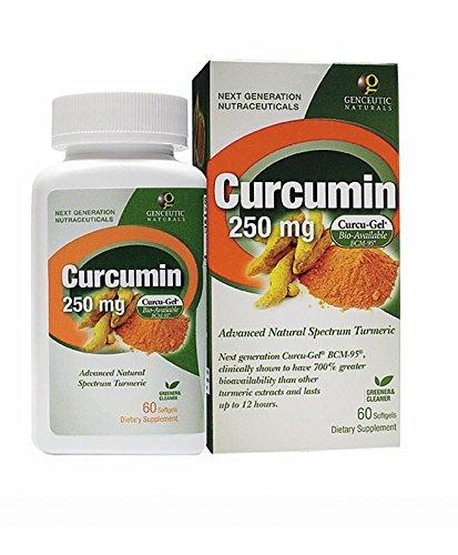 Genceutic Naturals Curcumin 250Mg Herbal Supplement