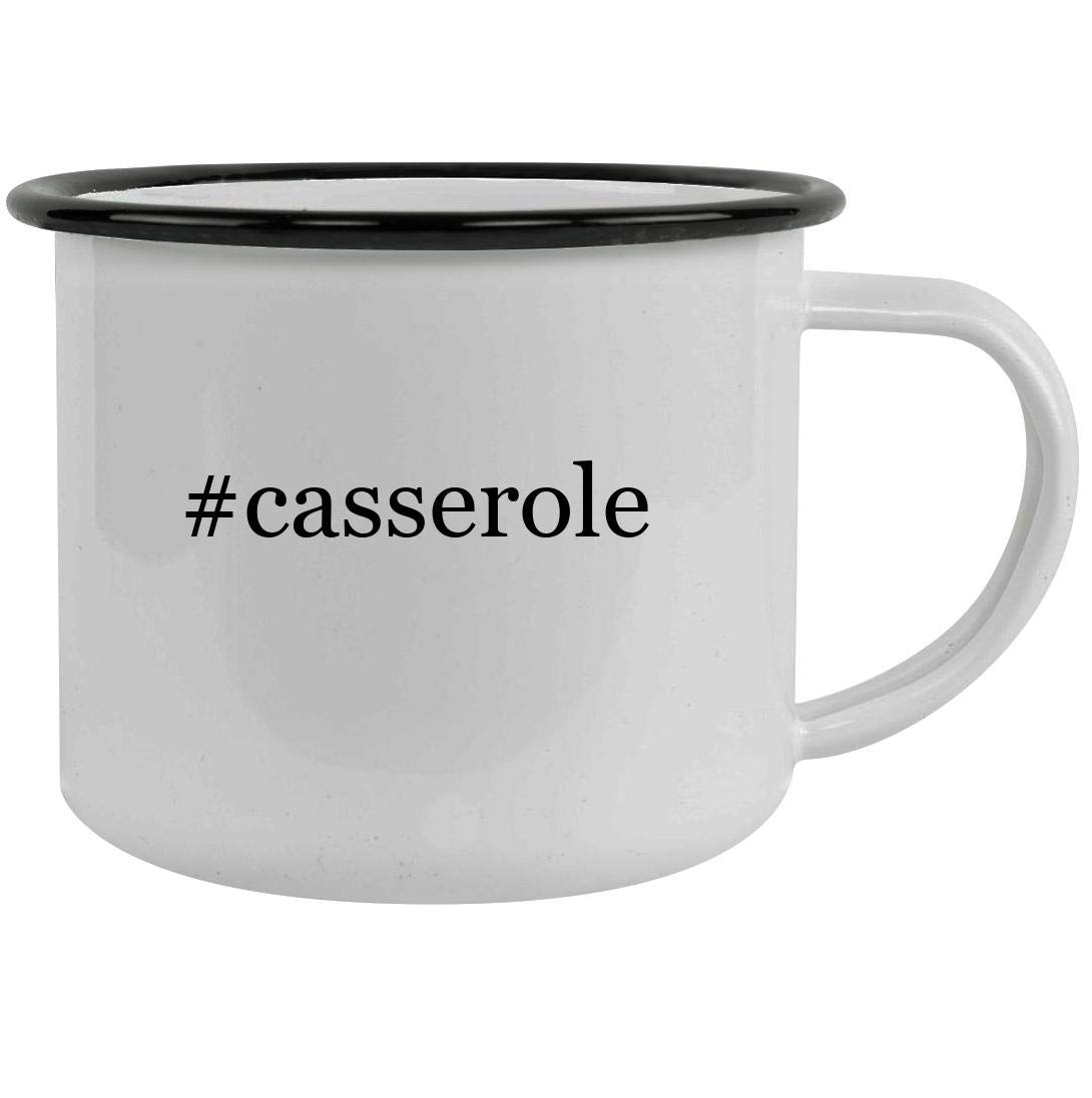 #casserole - 12oz Hashtag Stainless Steel Camping Mug, Black