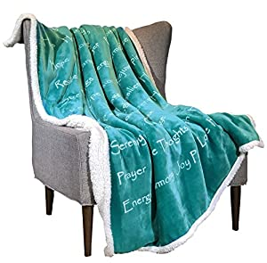 Wolf Creek Blanket Compassion Blanket - Breast Cancer Gift Blanket Get Well Gift for Women Men Warm Hugs Healing Thoughts Positive Energy Courage Soft Fluffy Comfort Caring Throw from Wolf Creek Blankets, LLC