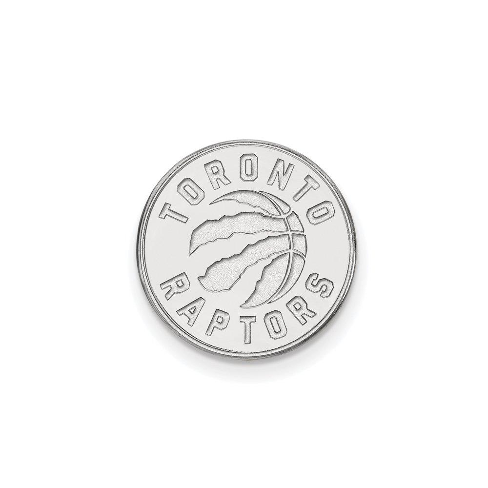 NBA Toronto Raptors Lapel Pin in 14K White Gold
