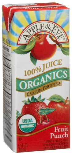Apple & Eve Organic Juice, Fruit Punch, 6.75 Ounce, 3 Boxes (Pack of 9)