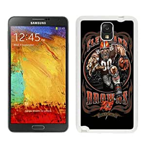 WOSN Cleveland Browns 01 White Case Cover for Samsung Galaxy Note3