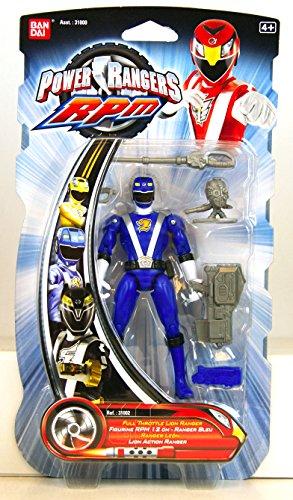 Power Rangers RPM 5 Inch Basic Action Figure Full Throttle Lion Ranger (Blue)