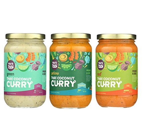 Thai Coconut Curry 3 Pack Variety (Green Curry, Yellow Curry, Red Curry)