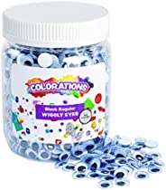 Colorations Wiggly Googly Eyes, Best-Seller, Value Pack with Storage, Regular, Black & White, Arts & C