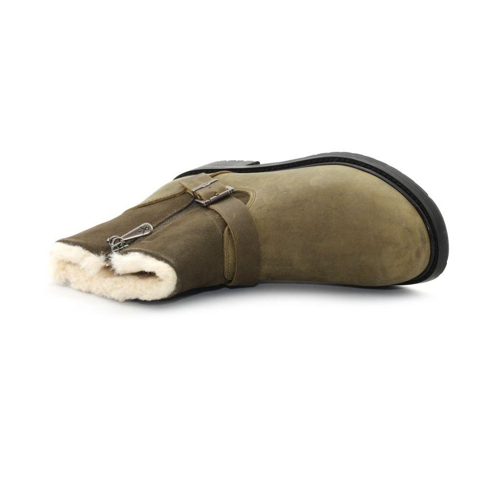 EMU Australia Shoreline Leather Lo Oak W11588OAK  Boots Military Green