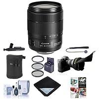 Canon EF-S 18-135mm f/3.5-5.6 IS USM Lens USA - Bundle w/67mm Filter Kit, Cleaning Kit, Lens Wrap (19x19), Flex Lens Shade, Medium Lens Case, LensPen Lens Cleaner, Lenscap Leash, Software Package