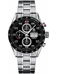 Mens Watch Tag Heuer CV2A10BA0796 Carrera Stainless Steel Carrera Black Dial Chr