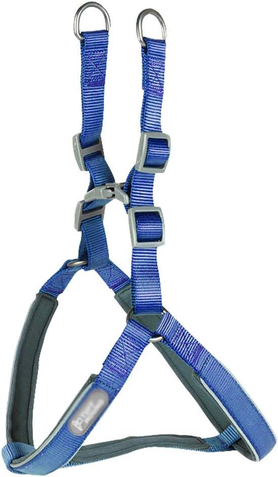 Yijinstyle Fácil de Poner Arnés para Perro Cómodo Perros Arnes Chaleco para Adiesreamiento para Mascotas (Azul, Asia S)