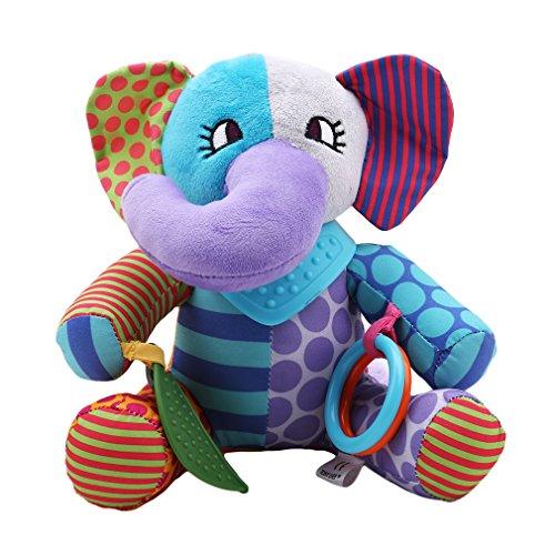 Dolland カーシート おもちゃ ベビーカー ベビー アクティビティ ベッド ハンギングトイ バンダナ バディー ソフトアクティビティトイ Elephant