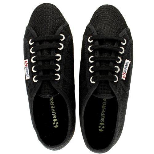 Superga cotu 2750 Sneaker bianco Nero Adulto Unisex Classic FPFfrqw
