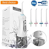 Water Flosser for Teeth,Morpilot Professional Cordless Dental Oral Irrigator,3 Modes with 4 Jet Nozzles,IPX7 Waterproof Flosser with Rechargeable Batteries for Home/Travel/Office Use (grey)