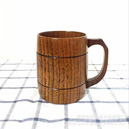 400ml/15oz Handmade Barrel Juice Beer Mugs Wooden Tea Cup...