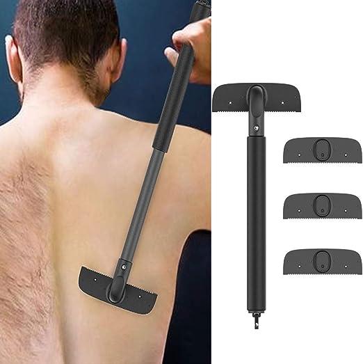 Zcthk Espalda Razor, depilación de Afeitar para el Cuerpo de los ...