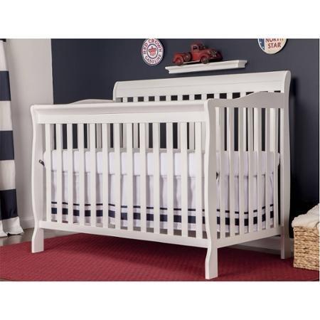 Dream On Me Ashton Convertible 5-in-1 Crib, White