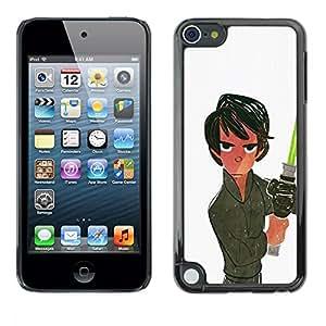 """For Apple iPod Touch 5 Case , Espacio Luz Blanca Saber Han película Sci Fi"""" - Diseño Patrón Teléfono Caso Cubierta Case Bumper Duro Protección Case Cover Funda"""