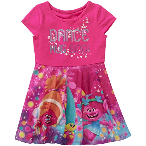 b148c6c0f Dreamworks Trolls Sleeve Little Toddler. Review - Dreamworks Trolls Dance  Hug Sing Cap Sleeve Dress ...