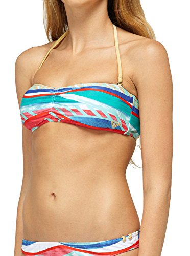 Roxy Juniors Golden Maze 3 Strap Bandeau Bikini (Golden Bandeau)
