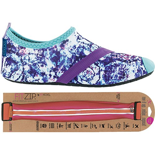 FITKICKS Womens Shoes with FITZIP Waist Pack, Cloud Burst Shoe Fuchsia