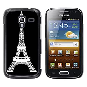 - Paris Eiffel Tower - - Fashion Dream Catcher Design Hard Plastic Protective Case Cover FOR Samsung Galaxy Ace 2 Retro Candy