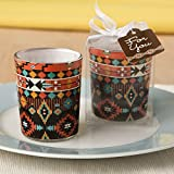 Fashioncraft, Votive Candle Holder, Tealight Candle Holder, Aztec Design for Weddings, Parties and Home Décor, Glass, Set of 24