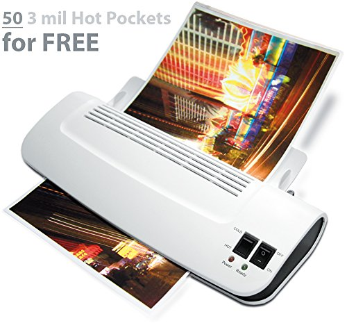 ": Zoomyo 9"" Hot & Cold Laminator Z9-5 