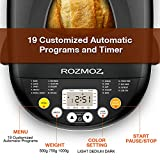 ROZMOZ Stainless Steel Bread Machine, 2LB