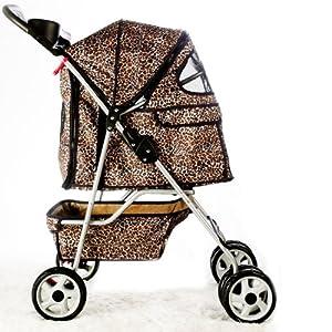 Amazon.com : BestPet 4-Wheel Pet Stroller, Classic Leopard
