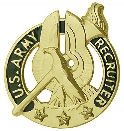 Gold Badge Awards - Vanguard ARMY IDENTIFICATION BADGE: RECRUITER - GOLD