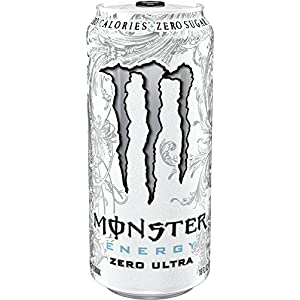 Monster Energy Ultra Energy Drinks 6 - 16oz Cans (Zero Ultra)