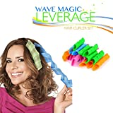Wave Magic Leverage Hair Curler Set (20-Piece Set)(18 Pieces Curlers and 2 pieces hooks)
