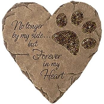 Amazon Com Dog Cat 13 Inch Paw Print Stepping Stone