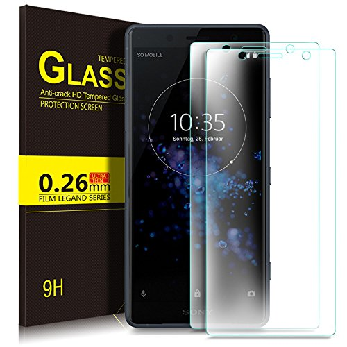KuGi Sony Xperia XZ2 Compact Screen Protector, 9H Hardness HD Clear High Responsivity Easy Installation Tempered Glass Screen Protector for Sony Xperia XZ2 Compact Smartphone(Clear)