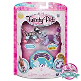 Twisty Petz – 3-Pack – Razzle Elephant, Cakepup Puppy and Surprise Collectible Bracelet Set for Kids