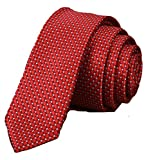 sharp video anytime - Classic Red Striped Tie Woven Jacquard Silk Men's Suits Ties Necktie