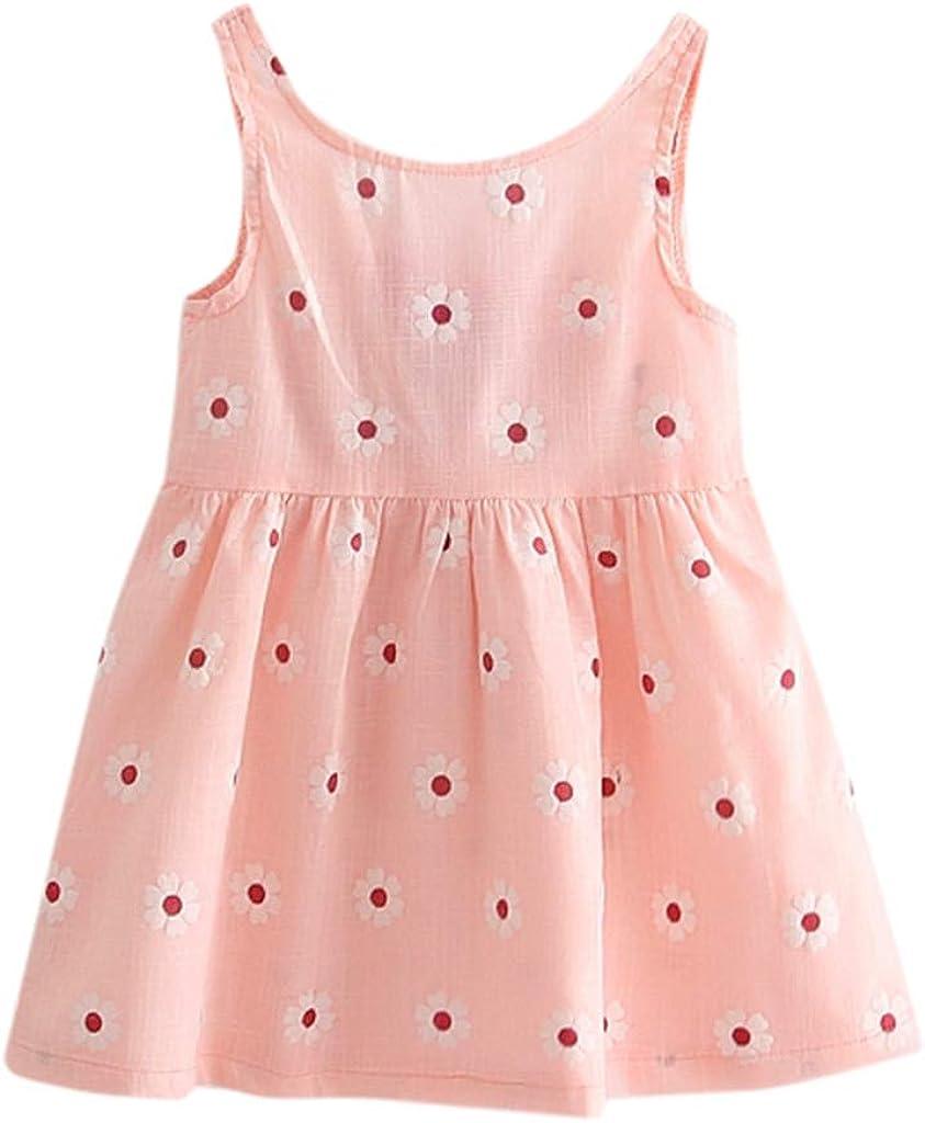 ASHOP - Vestidos niña de Princesa 2019 - Tutú Faldas de Fiesta - Bowknot Floral Sin Mangas Casual Vestido de Verano - 1-5 Años