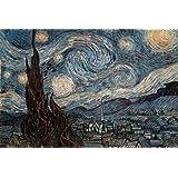 Laminated Posters Poster géant La Nuit étoilée de Vincent Van Gogh 61 x 91cm