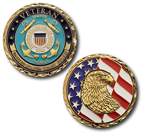 Us Coast Guard Challenge Coin - Armed Forces Depot USCG U.S. Coast Guard Veteran Challenge Coin