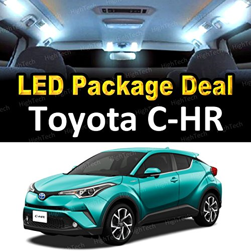 Led Chr - HighTechAutoAccessory - LED Interior Package Deal for 2018 Toyota C-HR CHR XLE Premium (8 Pieces), WHITE