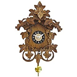 Quartz Cuckoo Clock with Leaves and Sound