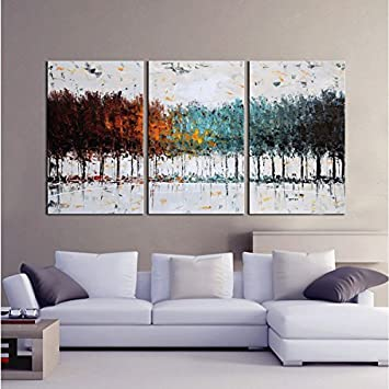 modern artwork for living room. Gardenia Art  Colorful Forest Abstract 100 Hand Painted Contemporary Oil Paintings Modern Amazon com