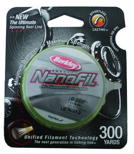 Berkley Nanofil Uni-Filament .010-Inch Diameter Fishing Line, 17-Pound Test, 300-Yard Spool, High-Vis Chartreuse, Outdoor Stuffs