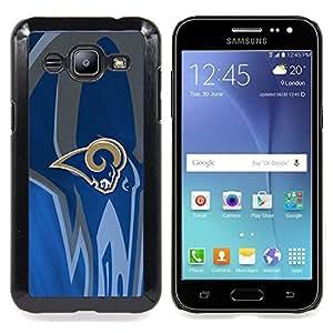 "Qstar Arte & diseño plástico duro Fundas Cover Cubre Hard Case Cover para Samsung Galaxy J2 / J200 (Ram Equipo deportivo"")"