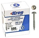 Kreg SML-HL125-500ct Pocket Hole Screws 1-1/4-Inch