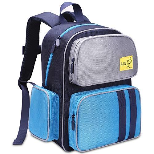 Toddler Backpack, Kids Backpack, RJEU Kindergarten Children Backpacks Preschool Bags Little Kids School Backpack for Boys Girls(Blue)