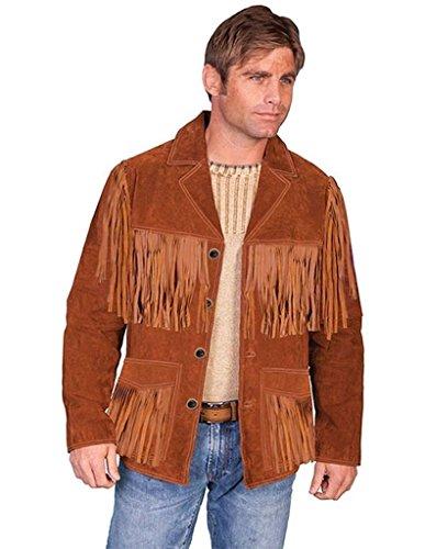 Scully Suede Fringe Jacket Cinnamon, Cinnamon, L