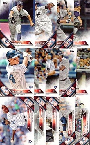 2016 Topps Series 1 New York Yankees Baseball Card Team Set – 14 Card Set – Includes Mark Teixeira, Brett Gardner, Jacoby Ellsbury, Nathan Eovaldi, Luis Severino, and more!