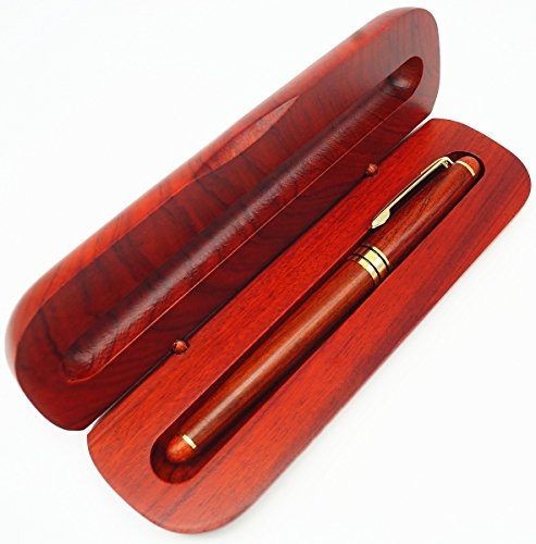IDEAPOOL Natural Handcrafted Rosewood Ballpoint Pen Set with Rosewood Gift Box