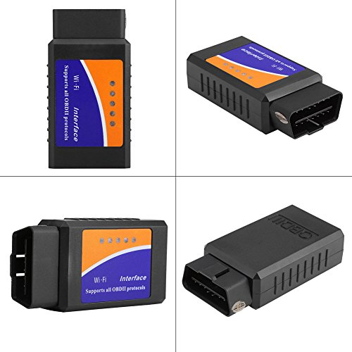 Qiilu Super Mini Wireless WiFi V1.5 OBD2 OBDII Car Auto Diagnostic Scanner Tool for iPhone Android by Qiilu (Image #1)