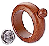 Premium Quality Bracelet Flask with Funnel - Hidden Boozy Bangle - Wood Color - 304 Stainless Steel FDA Compliant - 3.5 oz capacity Portable Wrist Flask - Great ALCOHOL GIFT